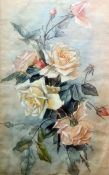 G Gay (20th century) Watercolour Still life of roses, signed lower right, 53cm x 33cm 19th