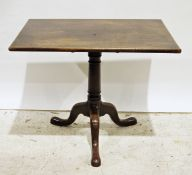 Rectangular occasional table on single pedestal base to three ogee feet, 86cm x 68cm