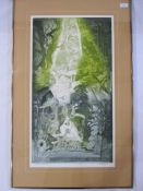 """Peter Lyon (20th century) Limited edition print """"Streams and Waterfalls"""", no.6/50, signed in pencil"""