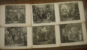 Charles Antoine Coypel (1694-1752) Various unframed engravings published by G Vander Gucht,