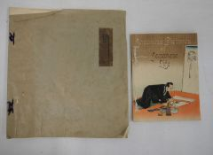 """Lilian May Miller (1895-1943) Woodcut in colours """"The Quaintness of Korea"""", titled in pencil,"""