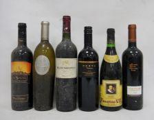 One bottle Blaauwklippen Shiraz 2000, one bottle Tempus Two 2005 Chardonnay, one bottle Rioja