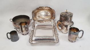 Quantity of flatwarewith mother-of-pearl and ivorine handles and other assorted silver plate(2