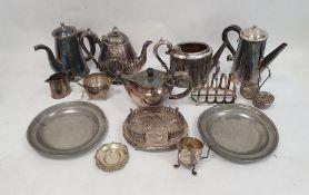 Quantity of plated wareto include teapots, hot water jugs, milk jugs, etc (1 box)