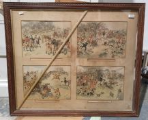 After H Thomson Set of four hunting prints (4)