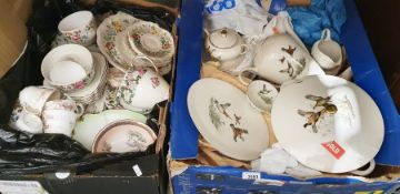 Bayreuther part-dinner service, a Crown Staffordshire part-dinner service together with various
