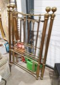 Pair of brass bed-ends