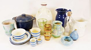 Beswick pottery vase, various Denby tablewares together with various china and glasswares (3 boxes)
