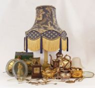 Alabastertable lamp, a K and CB late Mayers part-dinner service together with further assorted