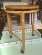 Circular tray table in beech with matching lazy Susan