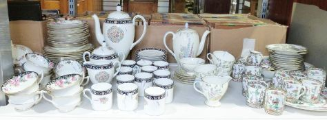 """Wedgwood """"Runnymede"""" part-coffee service, a Coalport part-coffee service, a Foley bone china part-"""