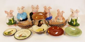 Collection of Wade NatWest pig money banks together with various chinaware (1 box)Condition