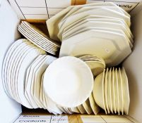 Myott Meakin white glazed part-dinner service, a quantity of Luton blue and white-ware together with