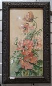 Dora Gray Watercolour and gouache Floral still life, signed lower right, together with After Gill