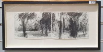 """Julian Lambert Pencil and wash on paper """"The Drive to Lakascena""""?, signed lower right, signed and"""