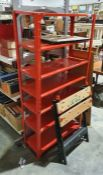 Black and Decker Workmate bench and a racking unit