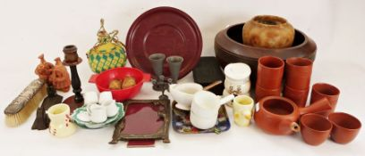 Pair of Burleigh Balmoral tureens together with various china,pottery and household items (4