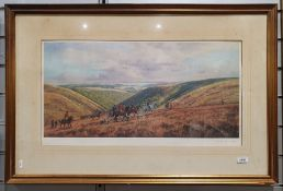 After Donald Ayres Limited edition print Hunting scene, signed and numbered 364/500 in pencil within