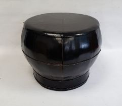 Lacquered rice box and cover, 36cm high
