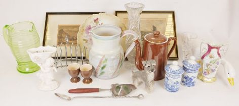 Royal Worcester teapot, a Denby pottery jug together with assorted china and glassware (3 boxes)