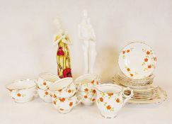 """Royal Doulton Images """"First Love"""" figurine, Wedgwood Mirabelle cups and saucers together with"""