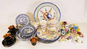 Portmeirion BotanicGarden teapot, Noritake cups and saucers together with various china and