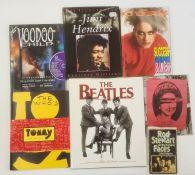 Punk, rock, jazz, pop, numerous volumes, to include Jimi Hendrix, Morrissey, The Doors, The Beatles,