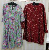 Assorted designer cotton dressesto include Albertine Burdett Bespoke Dressmakers, London, various