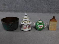 A collection of antique and vintage ceramics and porcelain. Including a 19th century hand painted
