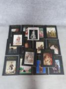 A collection of sixteen vintage collectors magazines. Fifteen Apollo arts vintage collectors