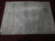 A 'super shaggy' French Conforama Villeneuve Rug, grey, high pile 205x290cm