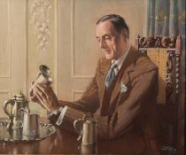 By John Littlejohns, The Silver Connoisseur, oil on canvas, 62.0 x 75.0 cm (24.4 x 29.5 inches),
