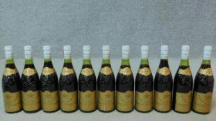Eleven bottles of 1982 Chateauneuf du Pape, Domaine du Pere Caboche.