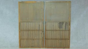 A pair of 19th century Japanese sliding doors. H.172 D.92cm