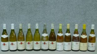 A miscellaneous collection of twelve bottles of white burgundy, various vintages.