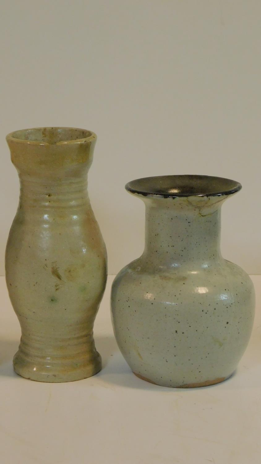 A miscellaneous collection of studio pottery, various jars, a bowl, ceramic chicken and a - Image 3 of 6