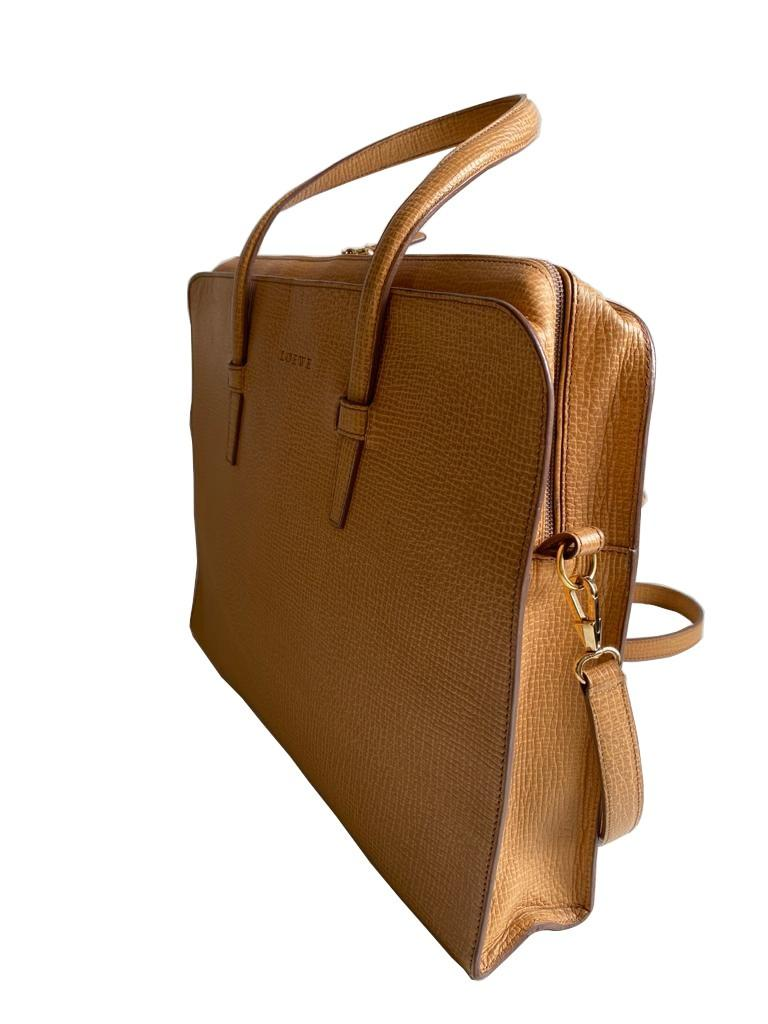 A Loewe Briefcase Handbag with Gold Hardware, might have been worn just once or twice. It's a very - Image 2 of 9