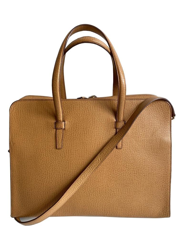 A Loewe Briefcase Handbag with Gold Hardware, might have been worn just once or twice. It's a very - Image 7 of 9