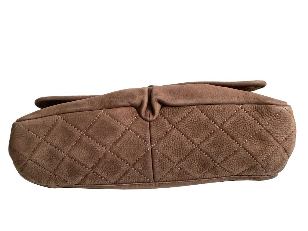 A Chanel Maxi Flap Bag in Nubuck leather (soft suede leather) with Silver Hardware, , exterior - Image 3 of 6