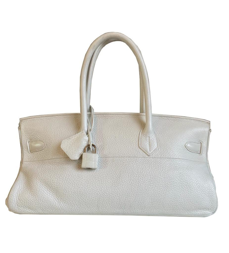 A white Jean Paul Gaultier (JPG) Hermes Birkin in clemence with palladium hardware, including - Image 2 of 15