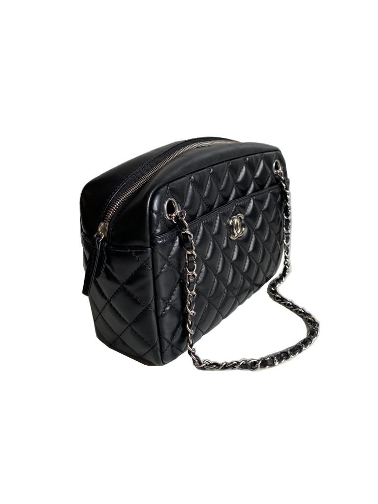 A Chanel Classic Camera Case in Black Lambskin with Silver Hardware, takes design inspiration from - Image 3 of 8