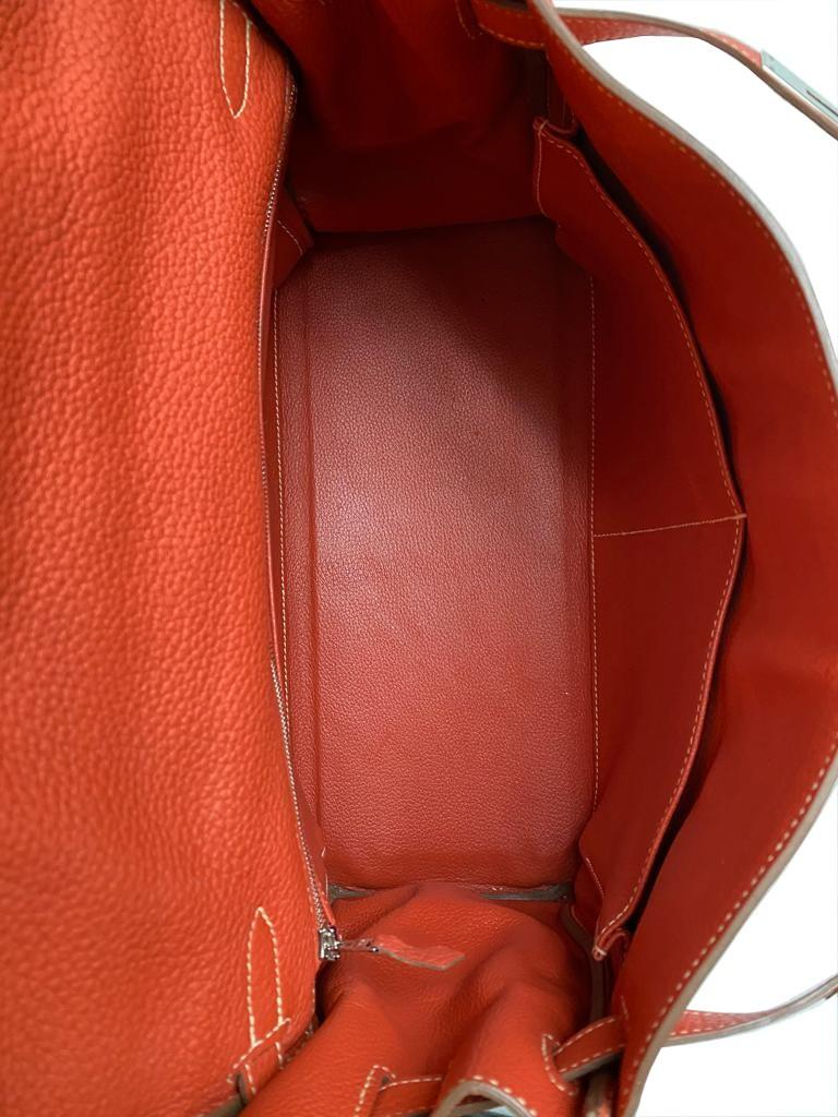 A sanguine Hermes Kelly in clemence leather with palladium hardware, includes Dustbag, Raincover, - Image 9 of 11