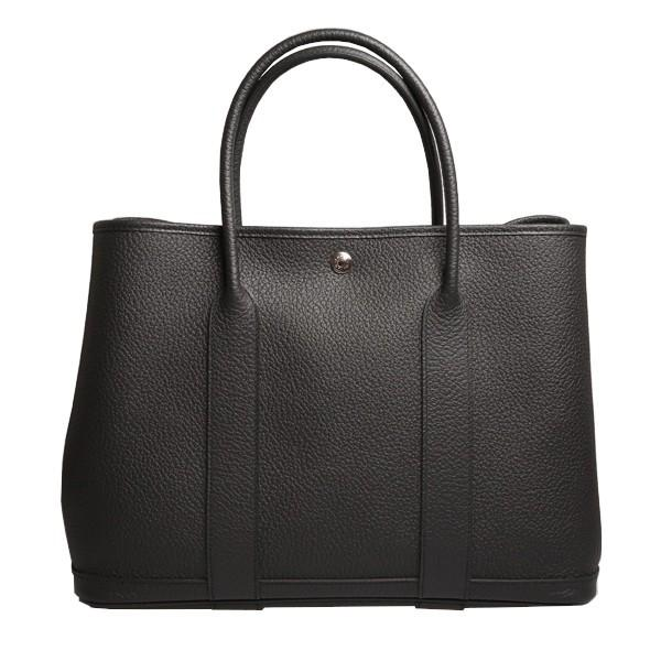 A Hermes Garden Party in black calf with palladium hardware, W.36cm x H.24cm x D.17cm, stamped N/A.
