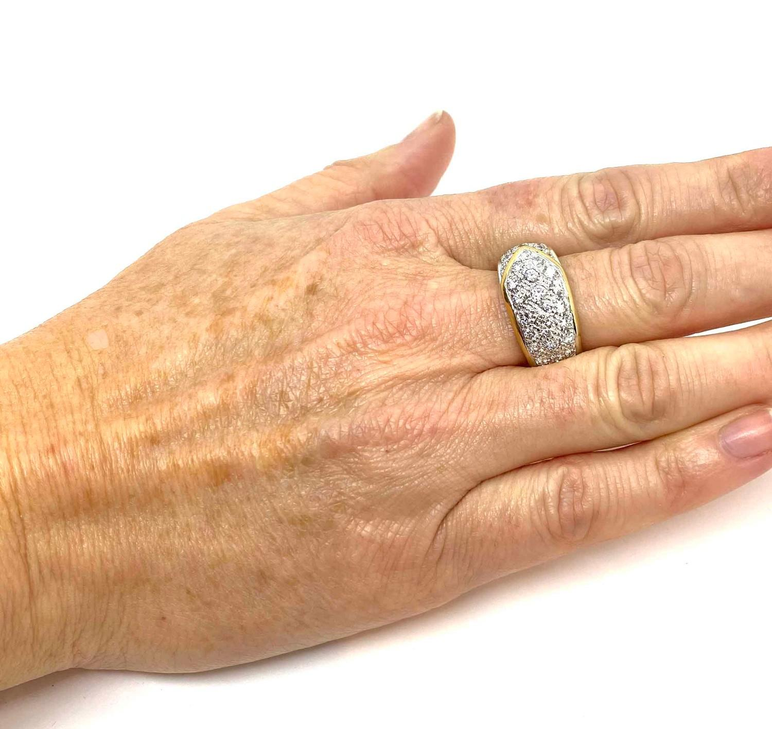 A Graff diamond Ribbon Ring, Contemporary pave set diamond buckle ring mounted in 18ct gold and - Image 4 of 4