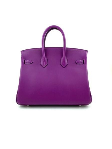 A Hermes 25cm Anemone Birkin in swift leather with palladium hardware. Includes all accessories - Image 4 of 4