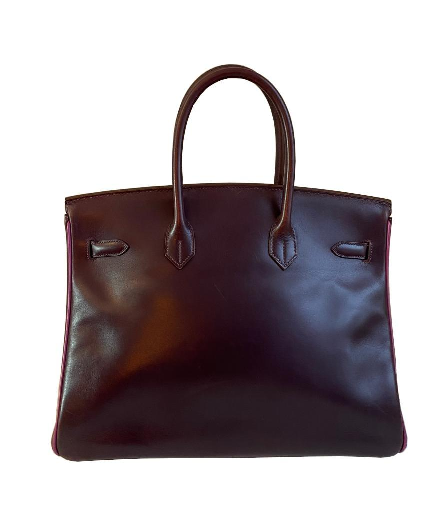 A Raisin & Cyclamen Hermes Birkin in box leather with palladium hardware with dustbag, key, lock and - Image 2 of 10