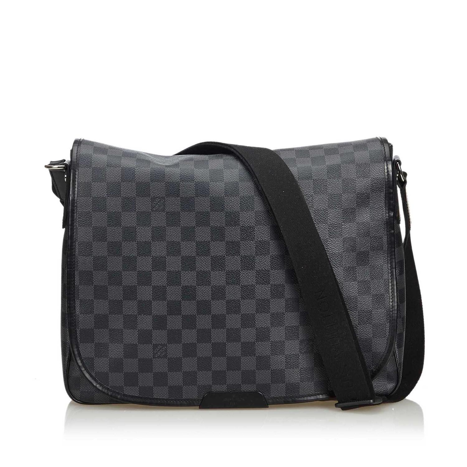 A Louis Vuitton Daniel Messenger Bag Damier Graphite is very resistant to water and scratches, and
