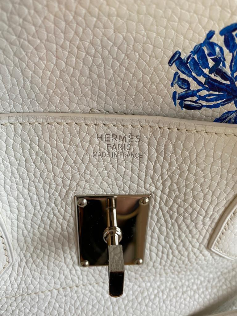 A white Jean Paul Gaultier (JPG) Hermes Birkin in clemence with palladium hardware, including - Image 15 of 15