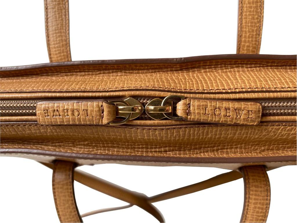 A Loewe Briefcase Handbag with Gold Hardware, might have been worn just once or twice. It's a very - Image 4 of 9