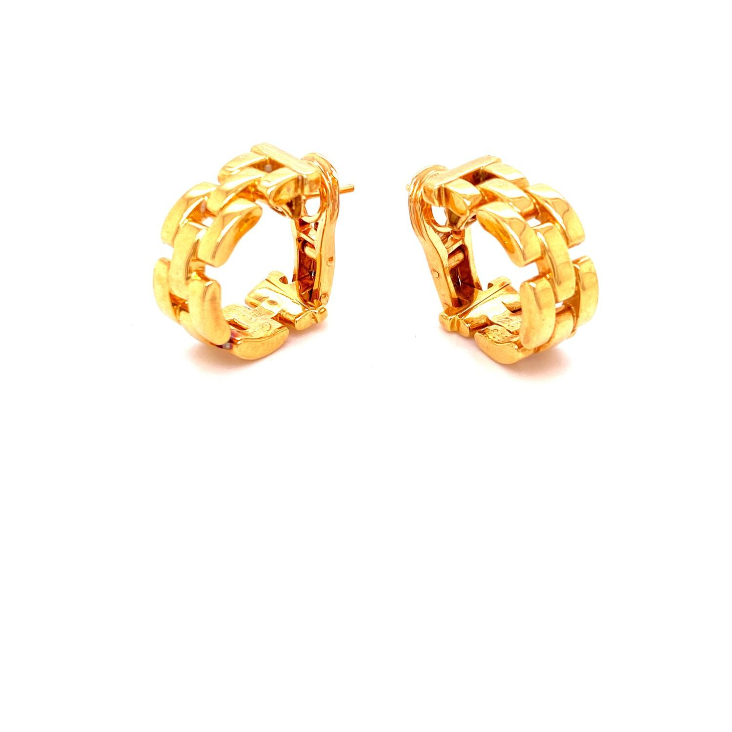 A pair of Cartier Panthere earrings mounted in 18ct gold. English. 1992. Signed and numbered with - Image 3 of 6